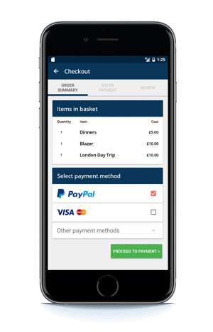 In-app payment for physical products