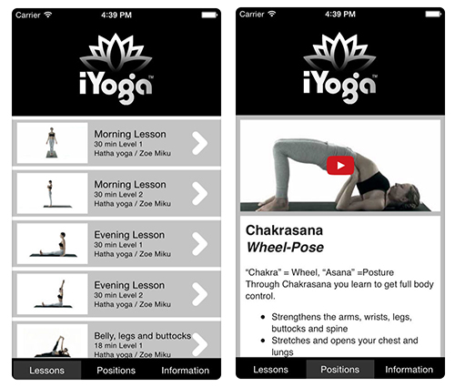 Apps to Help with New Years Resolutions: iYoga
