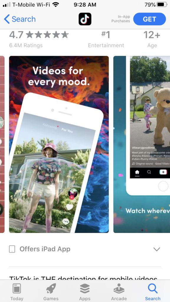 tiktok app store iphone 8 image